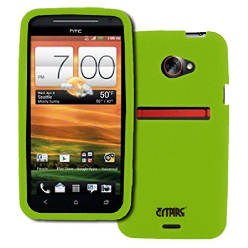 EMPIRE Sprint HTC EVO 4G LTE Silicone Skin Case Tasche Hülle Cover (Neon Grün) + Auto Charger