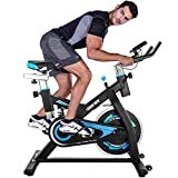 Merax Exercise Bike Stationary Indoor Cycling Bike with 28lbs Flywheel Quiet Belt Drive Workout Bike for Home Cardio Gym