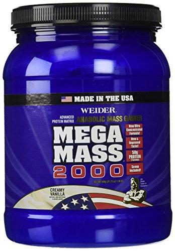 Weider Mega Mass 2000, Creamy Vanilla, 1.98 Pound