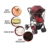 HUABEI BABY Mosquito Net, Net for Baby Strollers Infant Carriers Car Seats Cradles, Brown