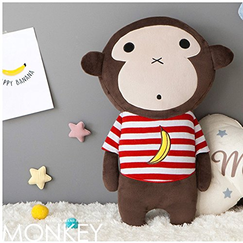 Cute Doll Car Seat Strap Belt Toy Cushion Cover for Kids Children, Auto Adjustable Pillow Pad Vehicle Car Safety Belt Toy Protect Shoulder Chest Child (Monkey) by PRIELLEKorea