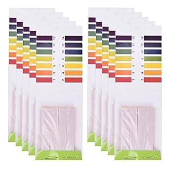 TUANTUAN 10 Packs PH Test Strips PH 1-14 Test Indicator Litmus Paper Strips Tester