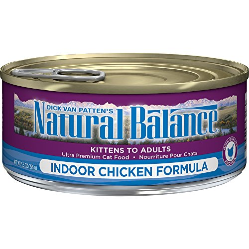 - Natural Balance Indoor Formula Wet Cat Food, 5.5-Ounce Can (Pack Of 24)