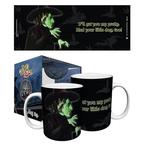 The Wizard of Oz Wicked Witch I'll Get You My Pretty Quote Classic Hollywood Movie Film Ceramic Gift Coffee (Tea, Cocoa) 11 Oz. Mug