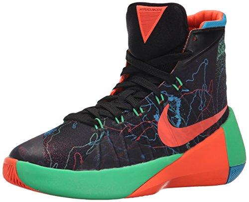 Boy's Nike Hyperdunk 2015 (GS) Basketball Shoe Black/Blue Lagoon/Hyper Orange Size 3.5 M US (High Top Nike Shoes compare prices)