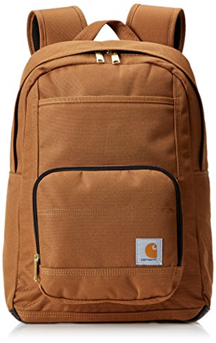Carhartt Legacy Classic Work Backpack with Padded Laptop Sleeve, Carhartt Brown Classic Dungaree