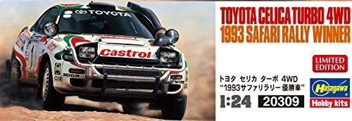 Amazon.com: Hasegawa 1/24 Toyota Celica Turbo 4WD 1993 Safari Rally championship Car Model Car 20309: Toys & Games