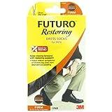 Futuro Dress Socks for Men, Brown, Medium, Firm (20-30 mm/Hg)