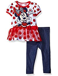 Disney Girls' Minnie Mouse Legging Set with Tulle Fashion...