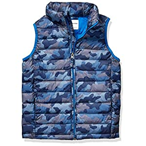 Amazon Essentials Boys' Light-Weight Water-Resistant Packable Puffer Vest