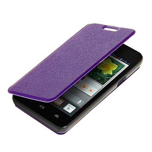 kwmobile Practical and chic FLIP COVER case for Huawei Ascend Y330 in violet (Y330 Back Huawei Case)