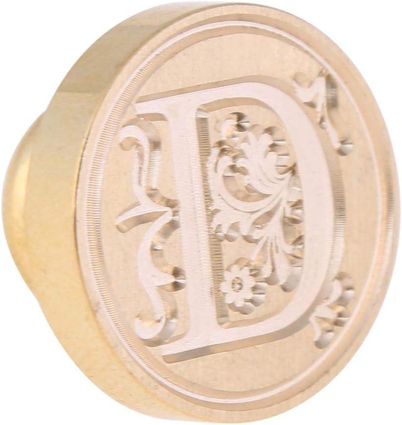 Timbro di sigillo con lettere dellalfabeto inglese antico in metallo con sigillo di cera Nesrunx