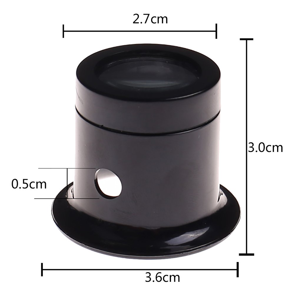 Ioffersuper 1 Pcs 10X Black Jewelers Loupe Magnifier Magnifying Eye Loop by Ioffersuper (Image #2)