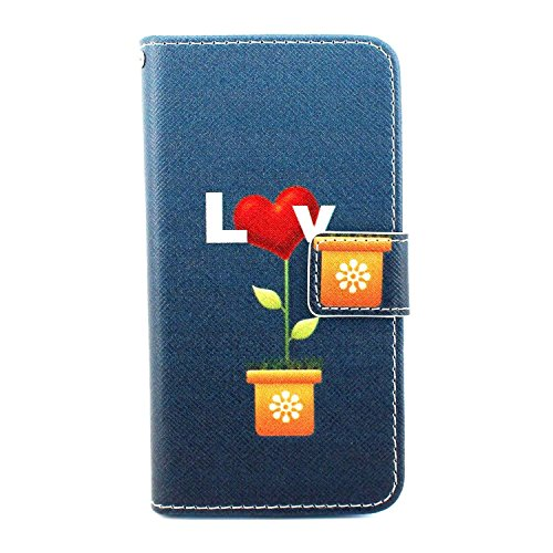 Bayke Brand / New Samsung Galaxy Grand Neo I9060 Case , Samsung Galaxy Grand Duos i9082 i9080 Case - Love Goes Like the Flowers Boom Pattern , Fashion Print Style PU Leather Wallet with Strap Built-in Media Bracket / ID Credit Card and Cash Slots , Folio Closure Cover for Samsung Galaxy Grand Neo I9060 / Samsung Galaxy Grand Duos i9082 i9080 GT-I9082