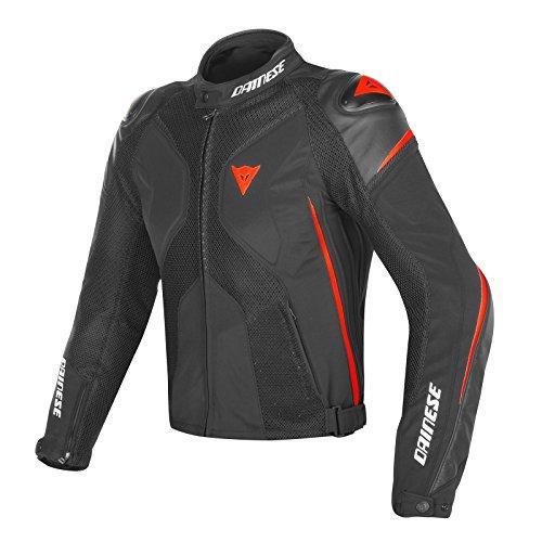 Rider Jacket - Dainese Super Rider D-Dry Jacket Black/Black/Fluorescent Red Eu 52/US 42