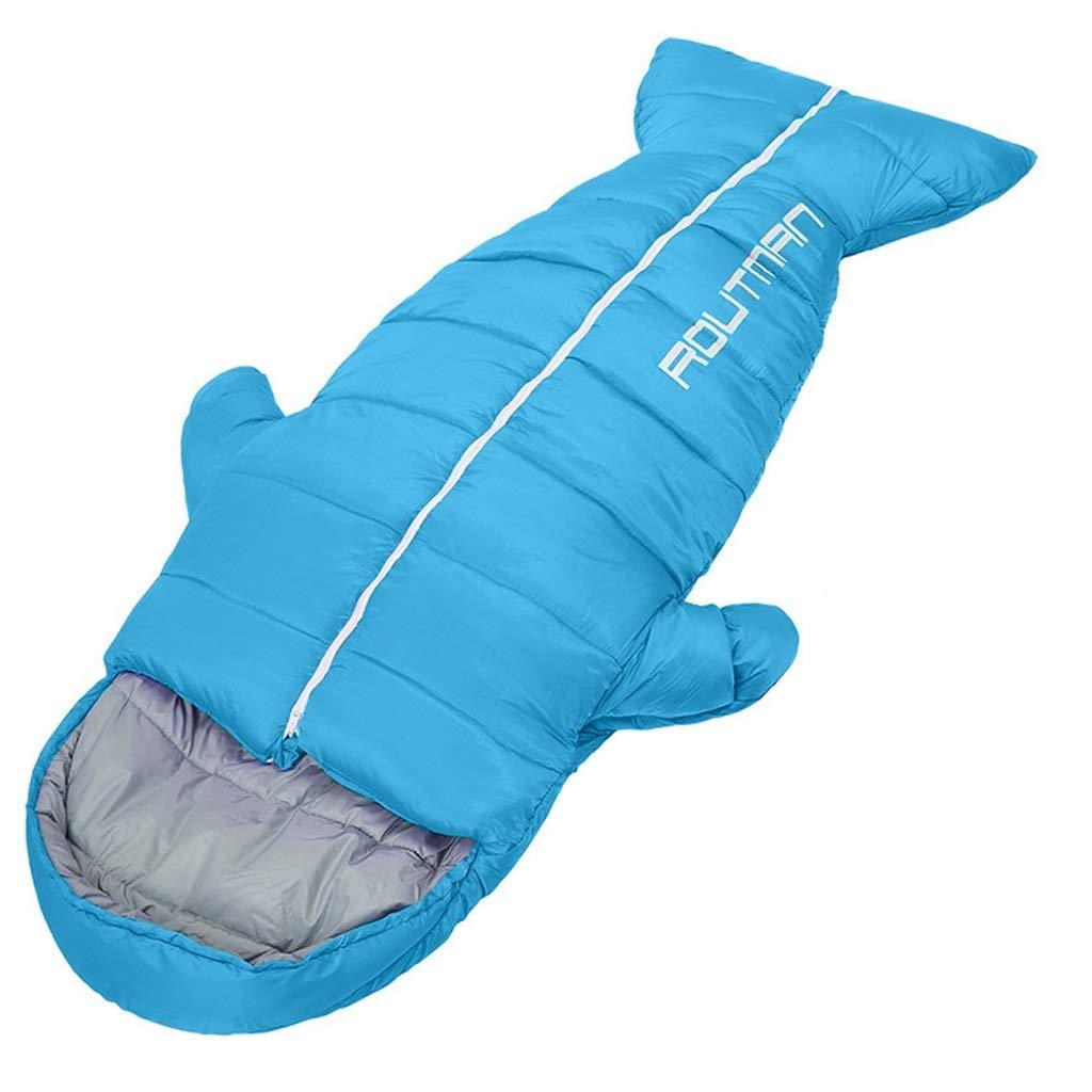 大人の独身者寝袋アウトドア旅行厚みの屋内キャンプ防寒、3色、3タイプ体重 (色 : Orange, サイズ さいず : 1.5kg) B07Q3P6HX4 青 1キロ 1キロ|青