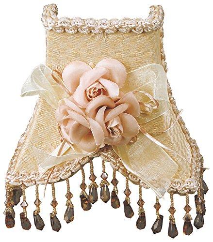 - Royal Designs NL-103 Beaded 2-Tone Beige Cream Victorian Nightlight Designer Fabric & Trim, Beige