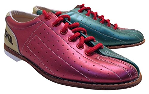 Bowlerstore Women's Classic Elite Rental Bowling Shoes, 9 US M, Red/Teal/Tan