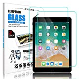 [ 2 Pack ] DONWELL iPad 9.7 2018 Screen Protector Bubble Free Anti Scratch Tempered Glass Protective Cover Compatible with iPad 5 5th 6 6th Generation iPad Pro 9.7 Model A1823 A1822 9.7 inch