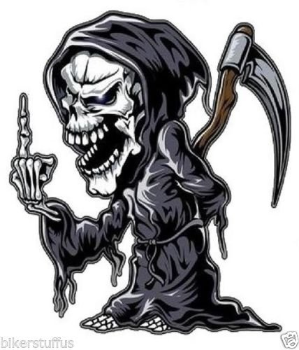 Reaper With Middle Finger Sticker Funny Car Buy Online