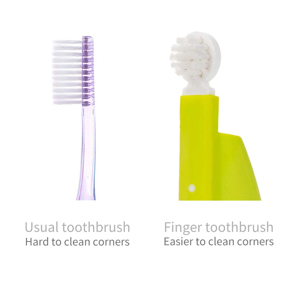 Toddler and Kids MDB Finger Tip Toothbrush with Soft Bristles Training Toothbrush for Baby Purple