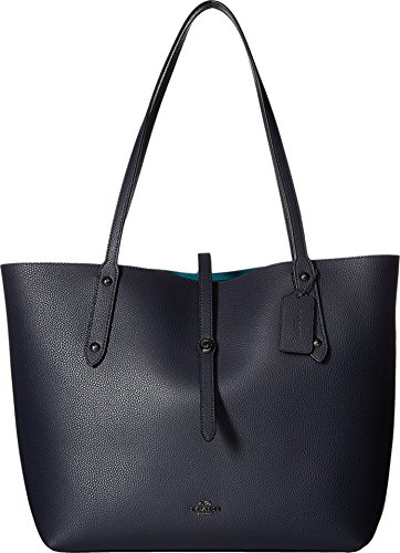 COACH-Womens-Polished-Pebbled-Leather-Market-Tote