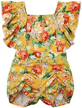 Floral Bodysuit Jumpsuit Shoulder Overall product image
