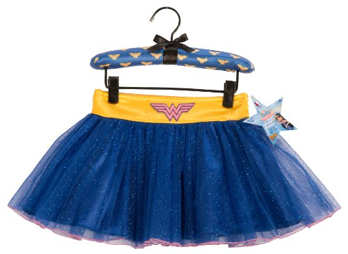 Wonder Woman Best Friends Tutu Skirt With Puff Hanger (Best Female Superhero)