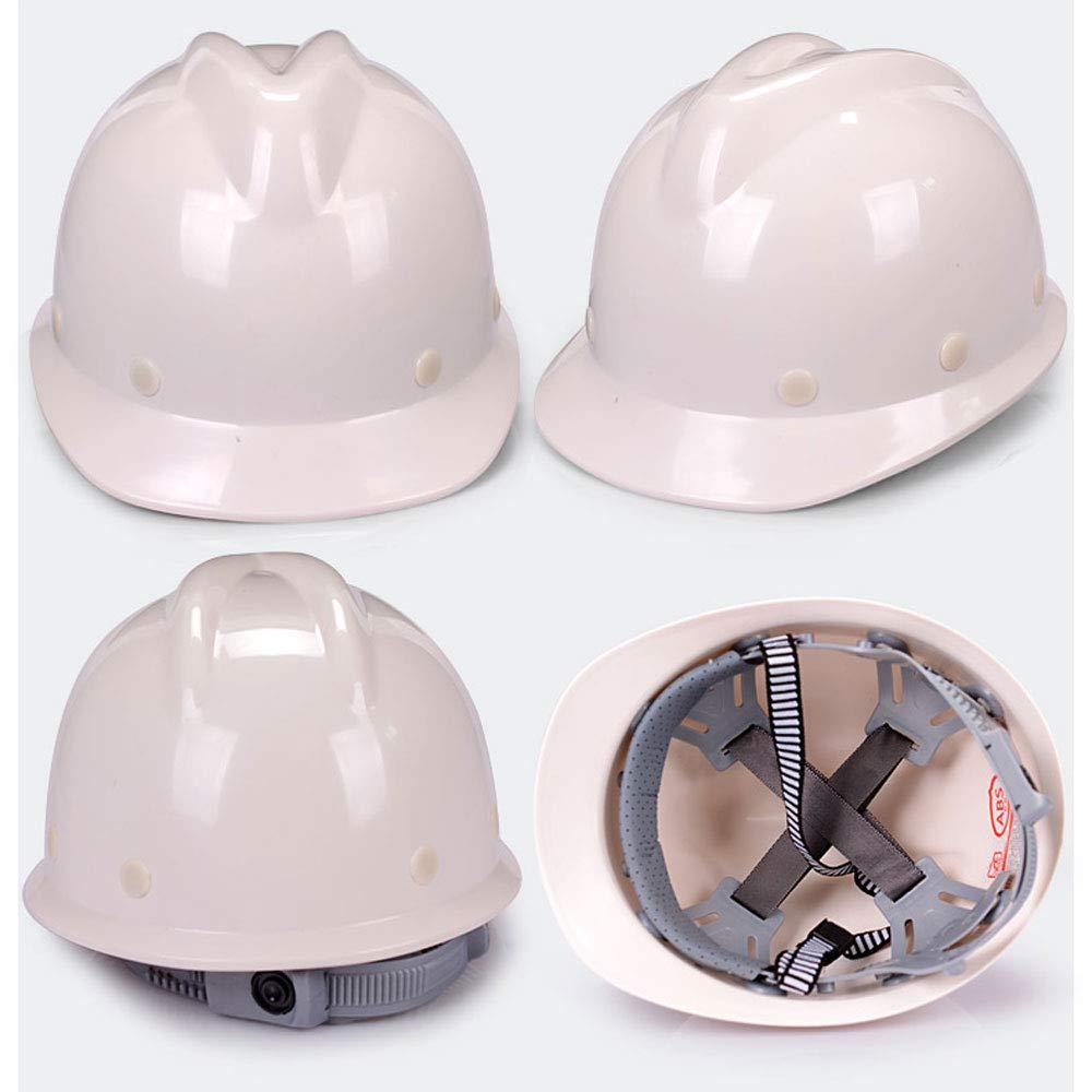 JH& Amplio Casco ABS De Seguridad Para El Trabajo, Casco De Seguridad Seguro De Trabajo Para Hombre Adecuado Para Construcción Liderazgo Supervisión Del ...
