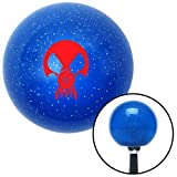 American Shifter Company ASCSNX16053 Red Skull Gas Mask Blue Metal Flake Shift Knob big block bbc ltr accessory
