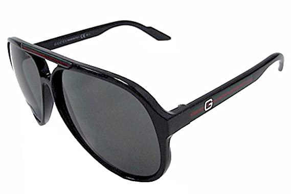 gucci sunglasses 1627 frame shiny black lens gray