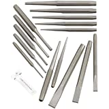 16pc Industrial Punch and Chisel Set Mechanics Pin Tapered Center Chisel