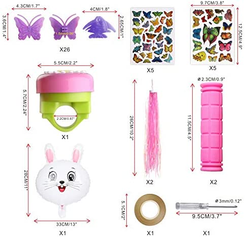 Details about  /BAPHILE Bike Accessories for Kids Girls Bike Bicycle Decorations Including Pu...
