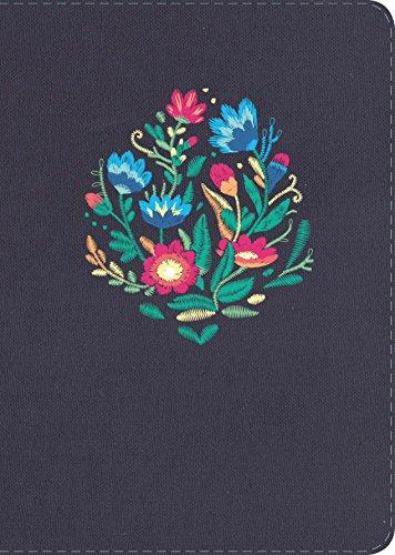 NVI Biblia Letra Gigante, Azul Bordado Sobre Tela por B&H Espanol Editorial