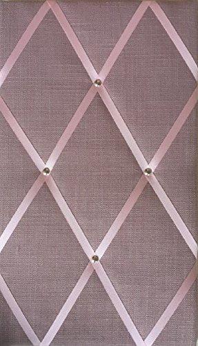 Message Boards Notice Boards//Memo Board//Vision Board Classic Size 48x30cm Rose Pink Linen Bulletin Boards Rose Gold//Copper Studwork Ribbon