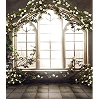 8x10 ft Vintage Romantic Wedding Photo Backdrops Spring Floral Background Wood Window Flowers Photo Studio Shoot Picture 6560