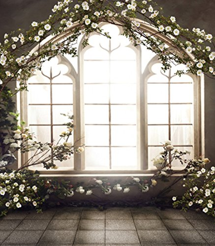 8x10 ft Vintage Romantic Wedding Photo Backdrops Spring Floral Background Wood Window Flowers Photo Studio Shoot Picture - Photo Factory