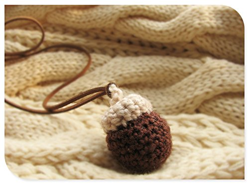 Rice pudding Rubber fruit hazelnut necklace pendant sweater chain original manual DIY Sen-based pine cones chief
