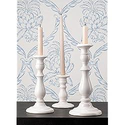 White Porcelain Candlestick Sets (3 3/4 D x 5 3/4 H)