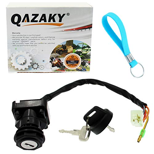 QAZAKY Ignition Key Switch Replacement for Suzuki ATV LT80 LT80S LTZ50 LTZ50Z LT 80 80S Z50 Z50Z LT-80 LT-80S LT-Z50 LT-Z50Z