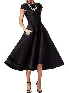 Amazon Com Fashionbride Women S Formal Evening Gown Satin Short