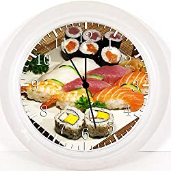 New Japanese Sushi Wall Clock 10 Will Be Nice Gift and Room Wall Decor Y84