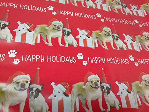 Christmas Wrapping Holiday Paper Gift Greetings 1 Roll Design Festive Wrap Dog