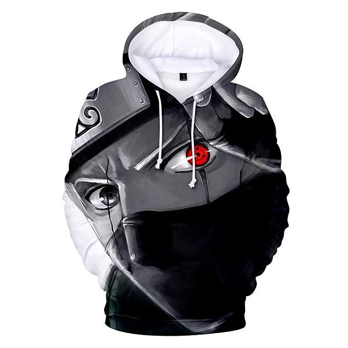 Lonimor Drawstring Sudadera con Capucha Hombre Sra. 3D Impresión Pullover De Tendencia Hoodie Sweatshirt De Bolsillos Unisex Jumper Naruto XS-XXXL: ...