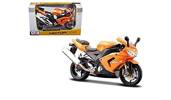 Amazon.com: Kawasaki Ninja ZX 10R Orange Motorcycle 1/12 ...