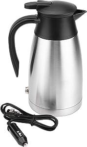 Filfeel Electric Kettle 1000ML, Water Heater Bottle 12/24V Car Heating Boiler 304 Stainless Steel Mug Kettle for Travel Camping Lorry Truck-Food-Grade