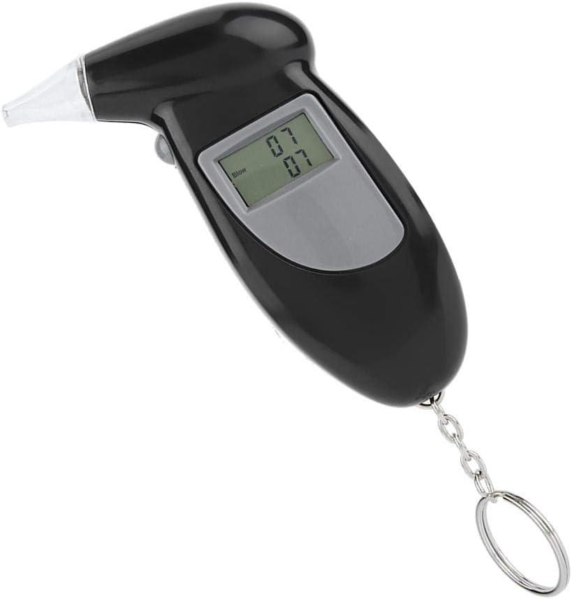 Digital Atemalkoholmessger/ät Breathalyzer Alkohol Tester mit 20 Mundst/ücke Alkoholtester Professionelle Akkurater Alkoholmessger/ät mit Halbleiter Sensor