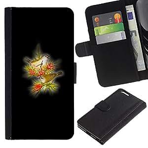 Stuss Case / Funda Carcasa PU de Cuero - Los pájaros amarillos - Apple Iphone 6 PLUS 5.5