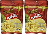 King Fruit - Vacuum Freeze Dried Durian Fruit - 7 Oz (Monthong Chunk) (3.5 Oz X 2 Bags)