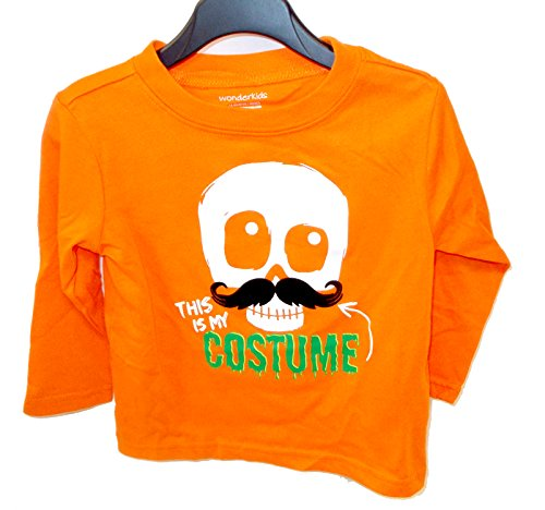 K-mart Halloween Orange T-Shirt Costume Skull Moustache Infant 12M NWT]()